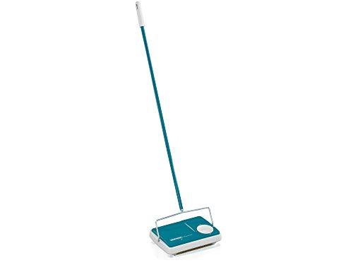Leifheit Teppichkehrer Regulus Türkis für die schnelle Reinigung,...