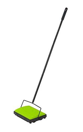 WENKO Teppichkehrer Grün teppichroller teppichbesen kehrmaschine Haare...