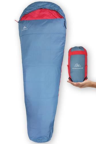 NORDKAMM ultraleichter Sommer-Schlafsack, leicht dünn kleines Pack-Maß...