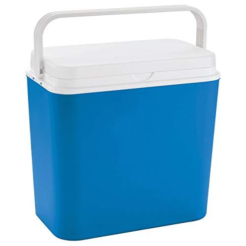 Linder Exlusiv Kühlbox 24 Liter groß - Isolierbox blau/weiß - Made in...