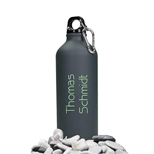 Personalisierte Trinkflasche mit Namen 0,6 L aus Aluminium...