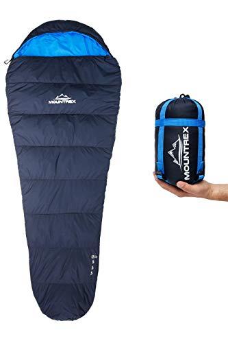 MOUNTREX® Schlafsack - Kleines Packmaß & Ultraleicht (750g) - Outdoor...