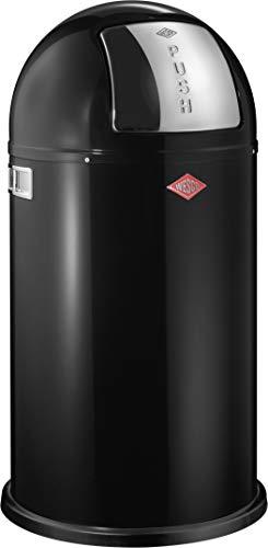 Wesco 175 831 Pushboy Abfallsammler 50 Liter schwarz 40 x 40 x 75.5cm...