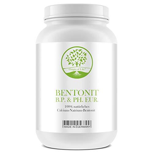 BENTONIT B.P. & Ph. Eur. – 1000g Pulver - Montmorillonit über 90% -...