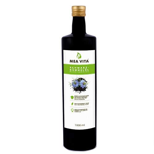 MeaVita Schwarzkümmelöl, 100% rein und kaltgepresst, 1er Pack (1 x 1000...