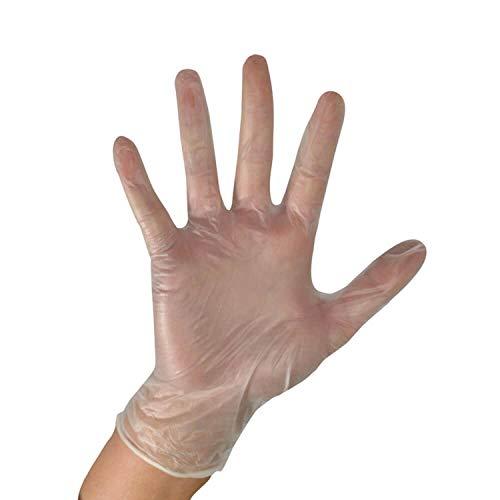 MOHOO 100 Stück Handschuhe PVC-Handschuhe Arbeitsversicherung...
