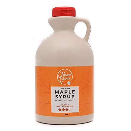 Ahornsirup Grad A - Dark - 1 Liter (1,32 Kg) - GLUTEN FREE - VEGAN -...