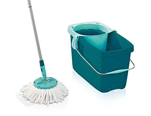 Leifheit Set Clean Twist Disc Mop, Wischer für nebelfeuchte Reinigung,...