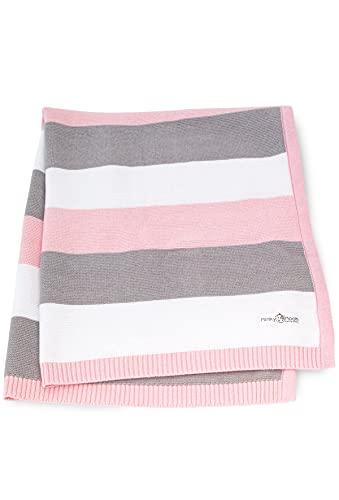 Babydecke aus 100% Bio Baumwolle - kuschelige Strickdecke ideal als Baby...