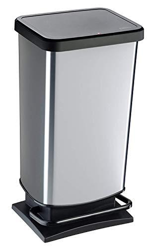 Rotho Paso Mülleimer 40l mit Pedal und Deckel, Kunststoff (PP) BPA-frei,...