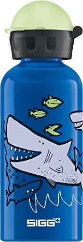 SIGG Sharkies Kinder Trinkflasche (0.4 L), schadstofffreie Kinderflasche...