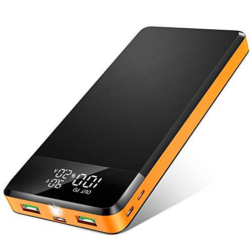 ORITO Powerbank 26800mAh, Power Bank USB C PD18W QC3.0 Schnellladung,...