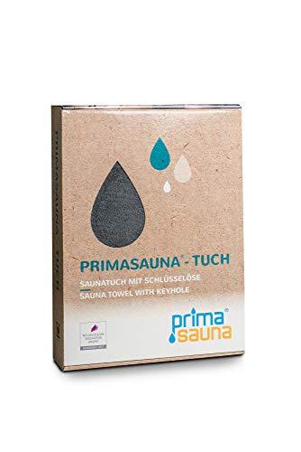 primasauna Saunatuch 210 x 80 cm für Damen und Herren mit innovativer Öse...