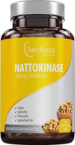 Nattokinase von Redfood® 100mg NEU mit MAGENSAFTRESISTENTEN KAPSELN 2000...