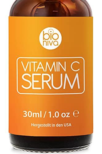 Bioniva Vitamin C Serum für Ihr Gesicht mit 20% Vitamin C + Hyaluronsäure...