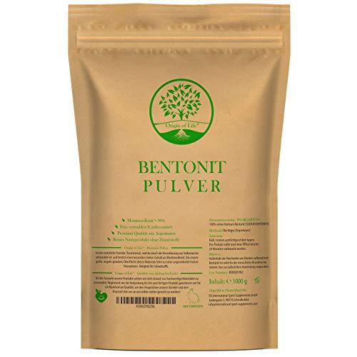 Origin of Life Bentonit Pulver 1000g / 1kg - Montmorillonit  90% -...