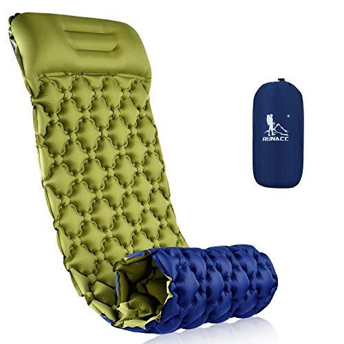 RUNACC Isomatte Camping Selbstaufblasbare, Aufblasbare Ultraleicht...