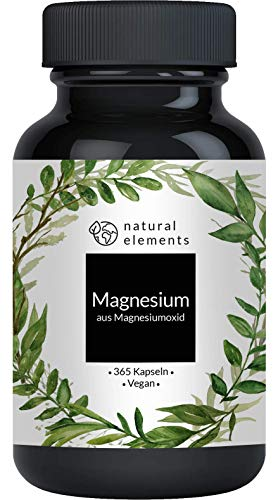 Magnesium - 365 Kapseln - 665mg, davon 400mg elementares Magnesium pro...