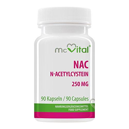 Mc Vital NAC - N-Acetylcystein 250 mg • 90 Kapseln • Made in Germany