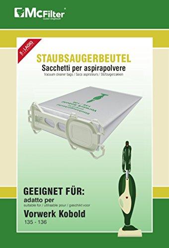 18 Staubsaugerbeutel geeignet für Vorwerk Kobold 135, 136, 135SC, VK 135...