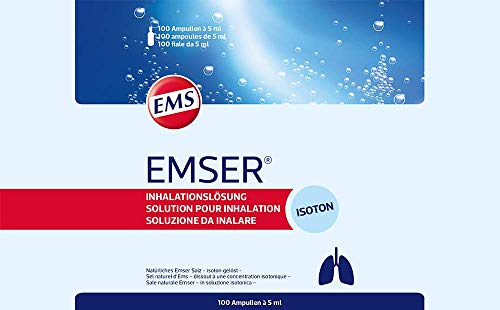 Emser Inhalationslösung mit Natürlichem Emser Salz / 100 Ampullen à 5 ml