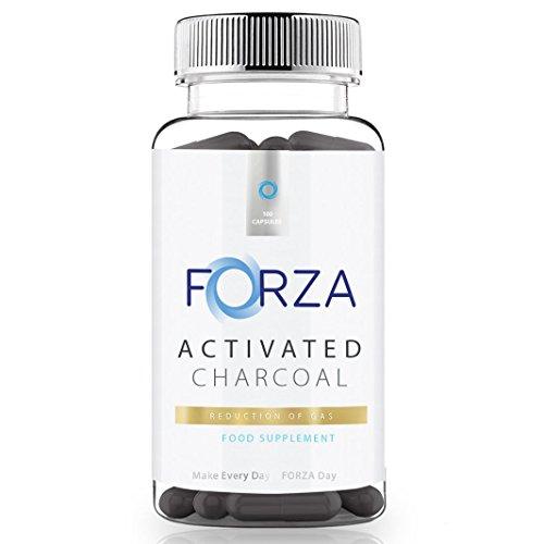 FORZA Gesundheits Aktivkohle – Reduziert Blähungen – 100 Kapseln