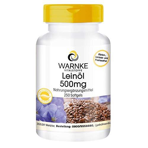 Leinöl Kapseln - pflanzliche Omega 3-6-9 Kapseln - hochdosiert - Flaxseed...