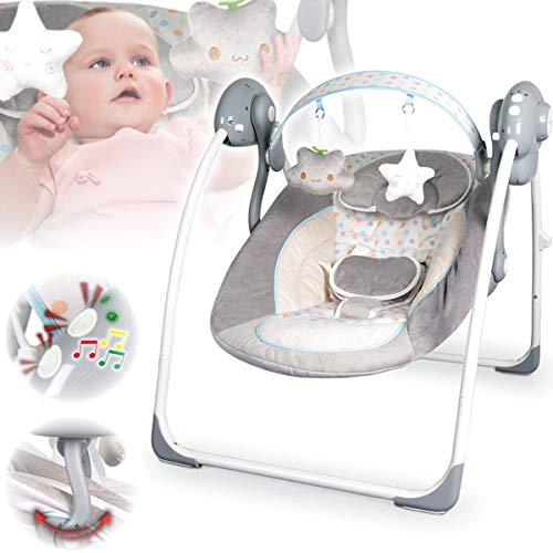 Babyschaukel (vollautomatisch 230V) mit 8 Melodien und 5...