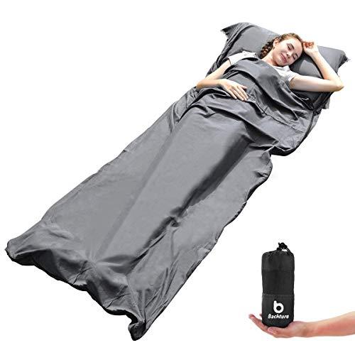Hüttenschlafsack, Ultra Leichter Reiseschlafsack Mikrofaser, Klimaanlage...