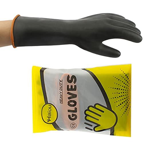 Gummihandschuhe Lang, Säurefeste Handschuhe, Schutzhandschuh Chemikalien...