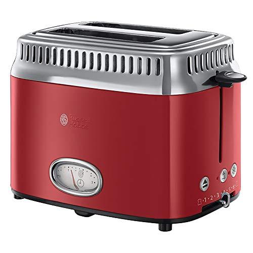 Russell Hobbs Toaster Retro Rot 21680-56 (1300W, Countdown-Anzeige im...