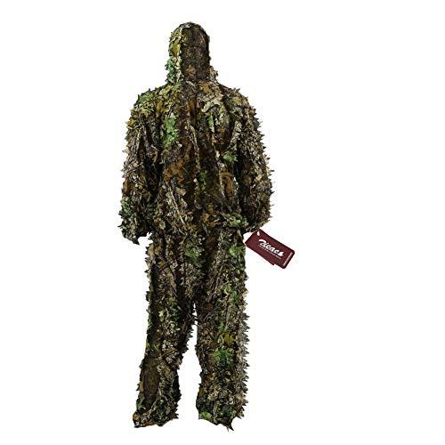 Zicac 3D Ghillie Tarnanzug Dschungel Ghillie Suit Woodland Camouflage Anzug...