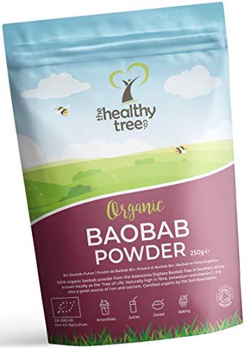Bio Baobab Pulver von TheHealthyTree Company für vegane Smoothies und...