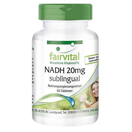NADH 20mg sublingual - HOCHDOSIERT - Coenzym 1 - VEGAN - 60 Tabletten zum...