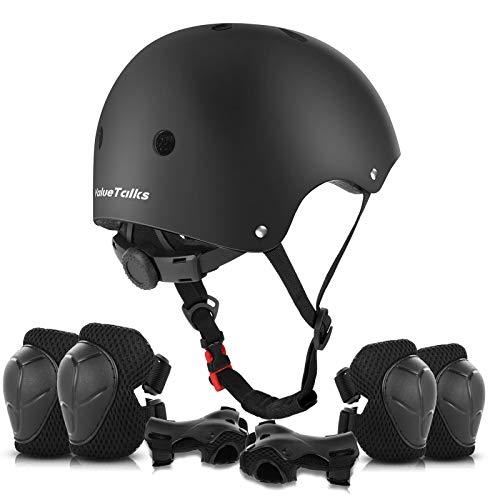 ValueTalks Kinder Helm Set Schonerset Protektoren Set Schutzausrüstung mit...