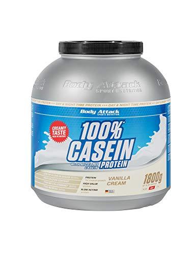 Body Attack 100% Casein Protein, reich an essentiellen Aminosäuren -...