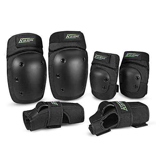 Everwell Protektoren Set, 6 in 1 Profi Schutzausrüstung für Kinder...