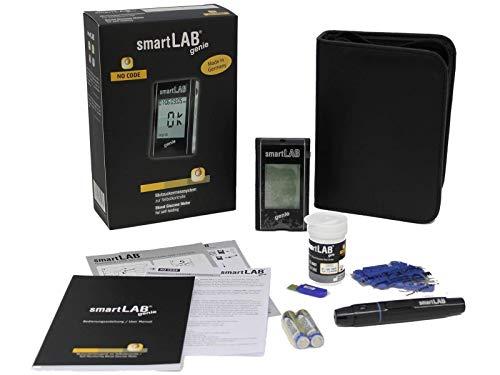 smartLAB genie Blutzuckermessgerät set mit 10 Teststreifen und 10...