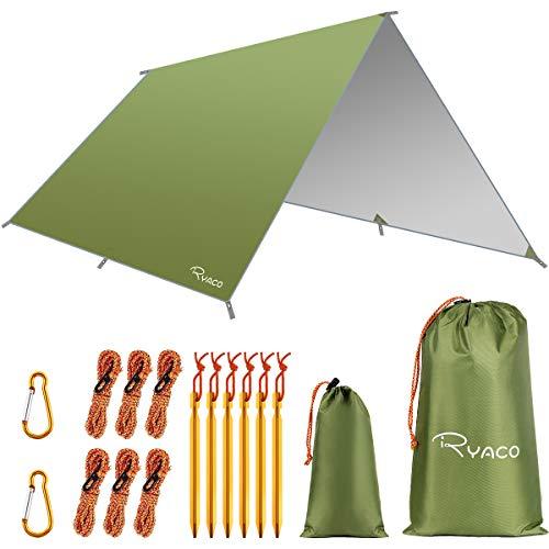 Ryaco Camping Zeltplane, 3m x 3m Tarp für Hängematte, wasserdicht Leicht...