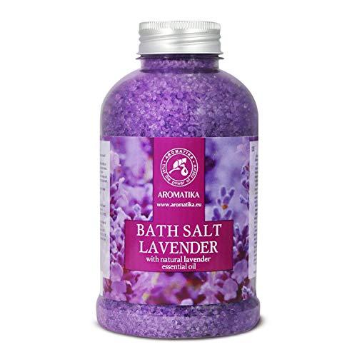 Badesalz Lavendel 600g - Meersalz mit 100% Natürlichem Ätherischen...