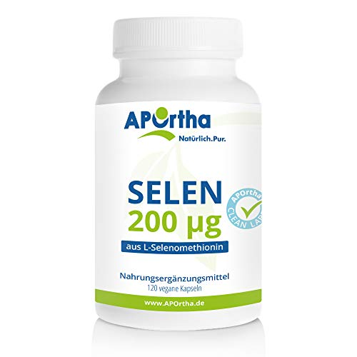 APOrtha® Selen Kapseln 120 Stück I Selen 200 µg aus L-Selenomethionin I...