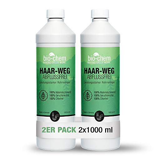 bio-chem Haar-weg Abflussfrei – Flüssiger Abflussreiniger, Rohrreiniger...