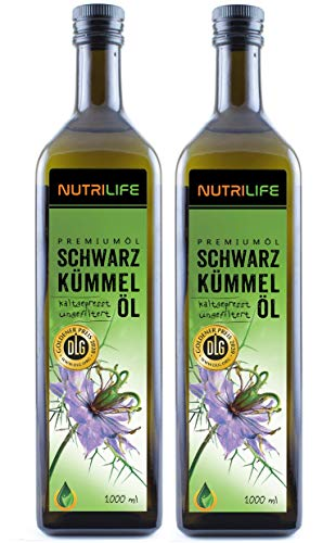 Nutrilife - Schwarzkümmelöl 2x1000ml - 100% pur, ungefiltert,...