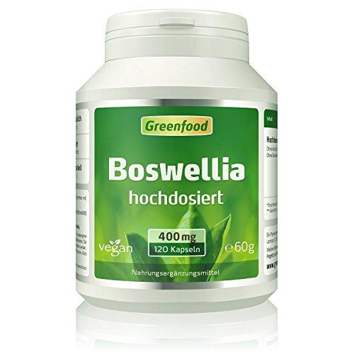 Weihrauch (Boswellia serrata), 400 mg, hochdosiert, 120 Vegi-Kapseln –...