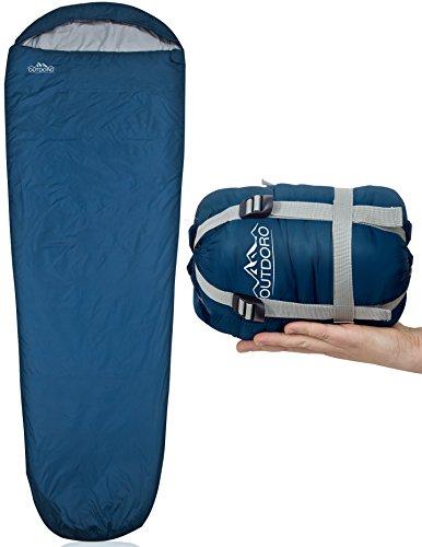 Outdoro ultraleichter Schlafsack 800g - kleines Packmaß - leicht, dünn...