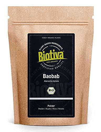 Baobab Pulver Bio 250g - Biobaobab in Premium Bio-Qualität - Apothekerbaum...