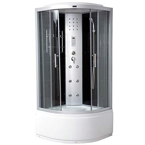 Home Deluxe - Duschkabine - Elegance Plus - Maße: 90 x 90 x 215 cm - inkl....
