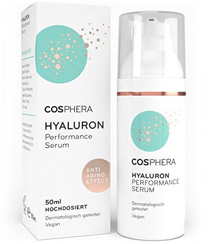 Cosphera Hyaluron Serum hochdosiert 50ml Vegan I Hyaluronsäure Konzentrat...