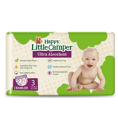 Happy Little Camper Ultra-saugfähige hypoallergene natürliche...