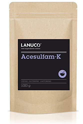 Acesulfam-K 1 kg - veganer, kalorienfreier Süßstoff für Lebensmittel &...